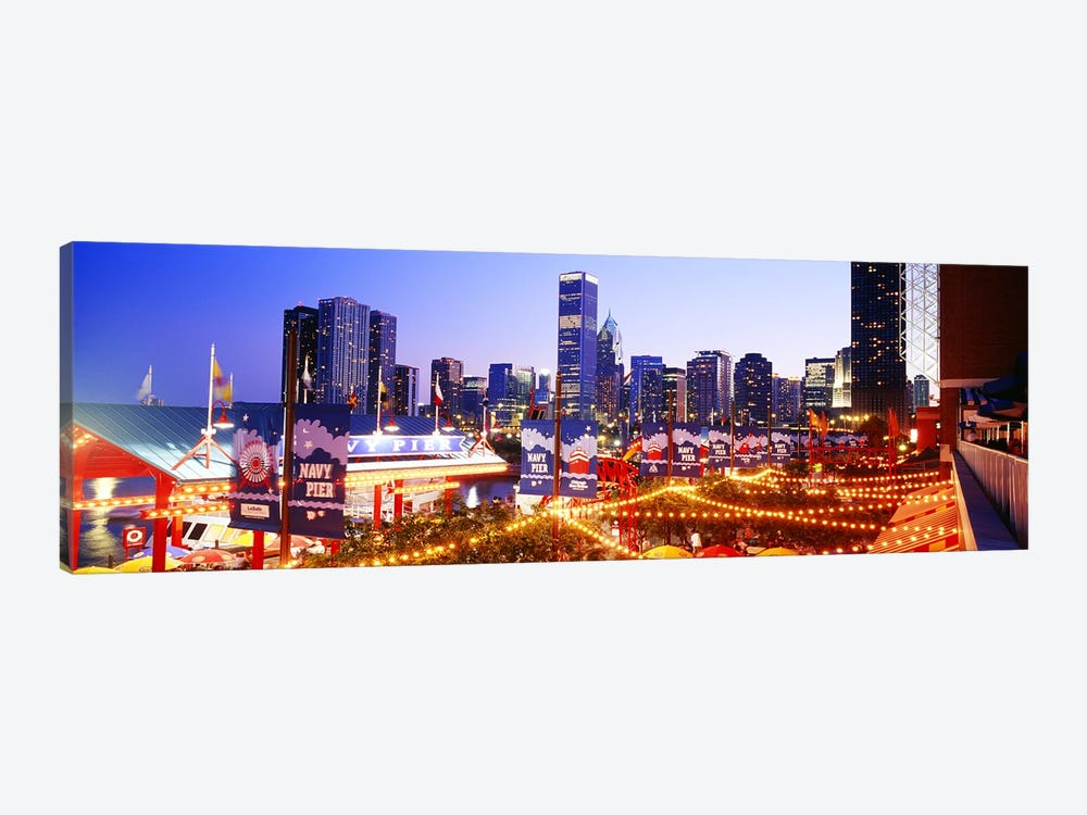 Navy Pier Chicago IL by Panoramic Images 1-piece Canvas Art Print