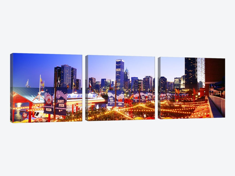 Navy Pier Chicago IL by Panoramic Images 3-piece Canvas Art Print