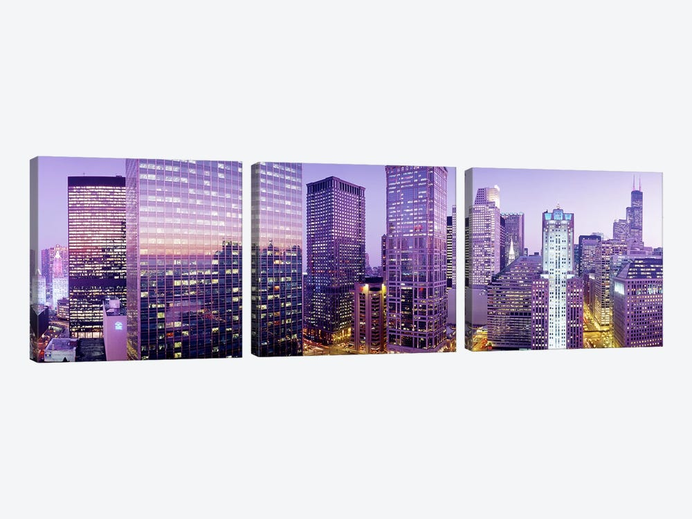Chicago IL by Panoramic Images 3-piece Art Print