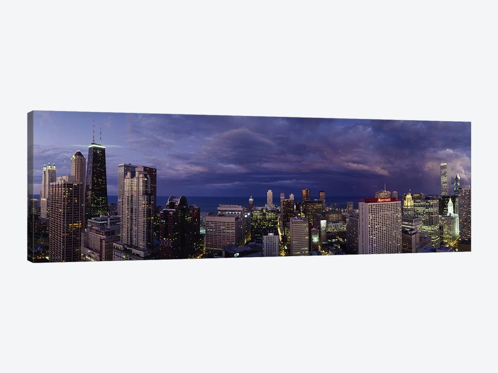 Evening Chicago IL by Panoramic Images 1-piece Canvas Artwork