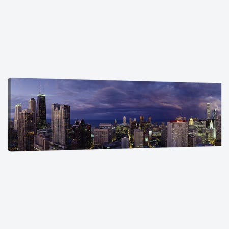 Evening Chicago IL Canvas Print #PIM3353} by Panoramic Images Canvas Wall Art