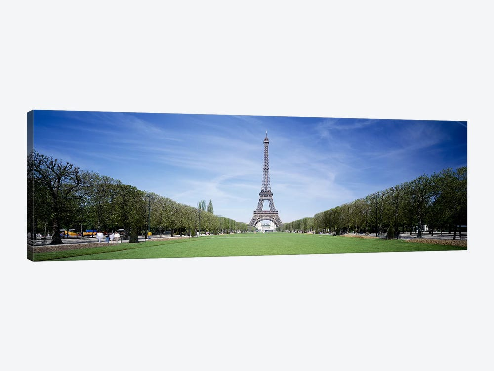 The Eiffel Tower Paris France by Panoramic Images 1-piece Canvas Wall Art
