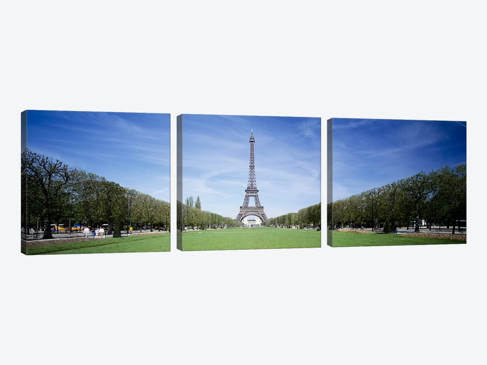 The Eiffel Tower Paris France by Panoramic Images 3-piece Canvas Art