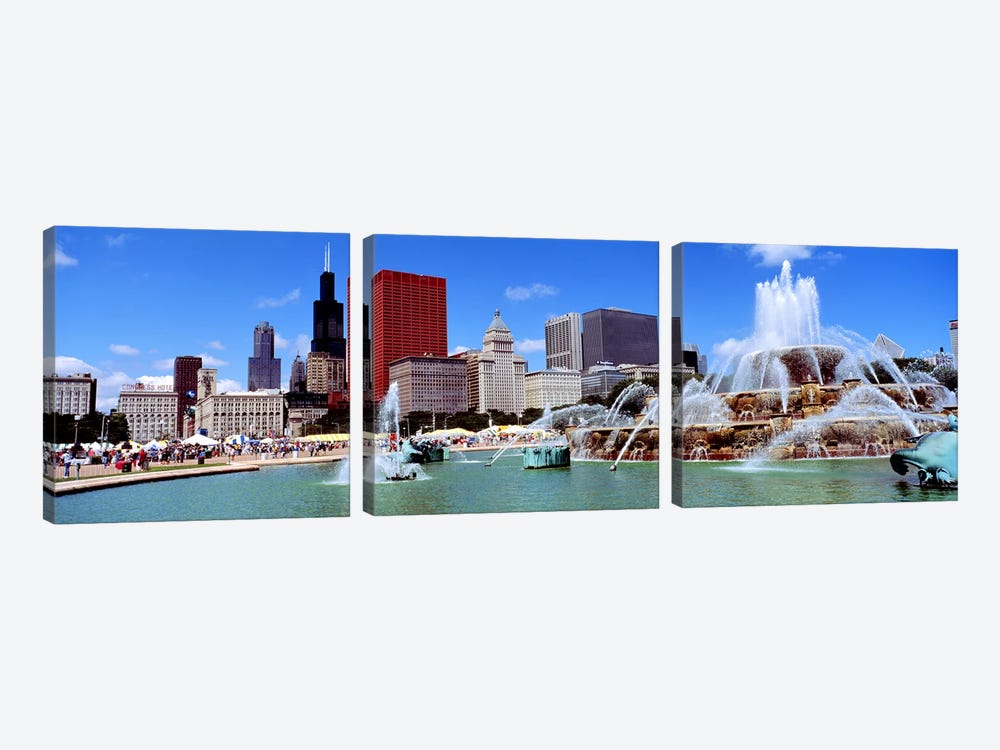 SummerChicago, Illinois, USA by Panoramic Images 3-piece Canvas Wall Art