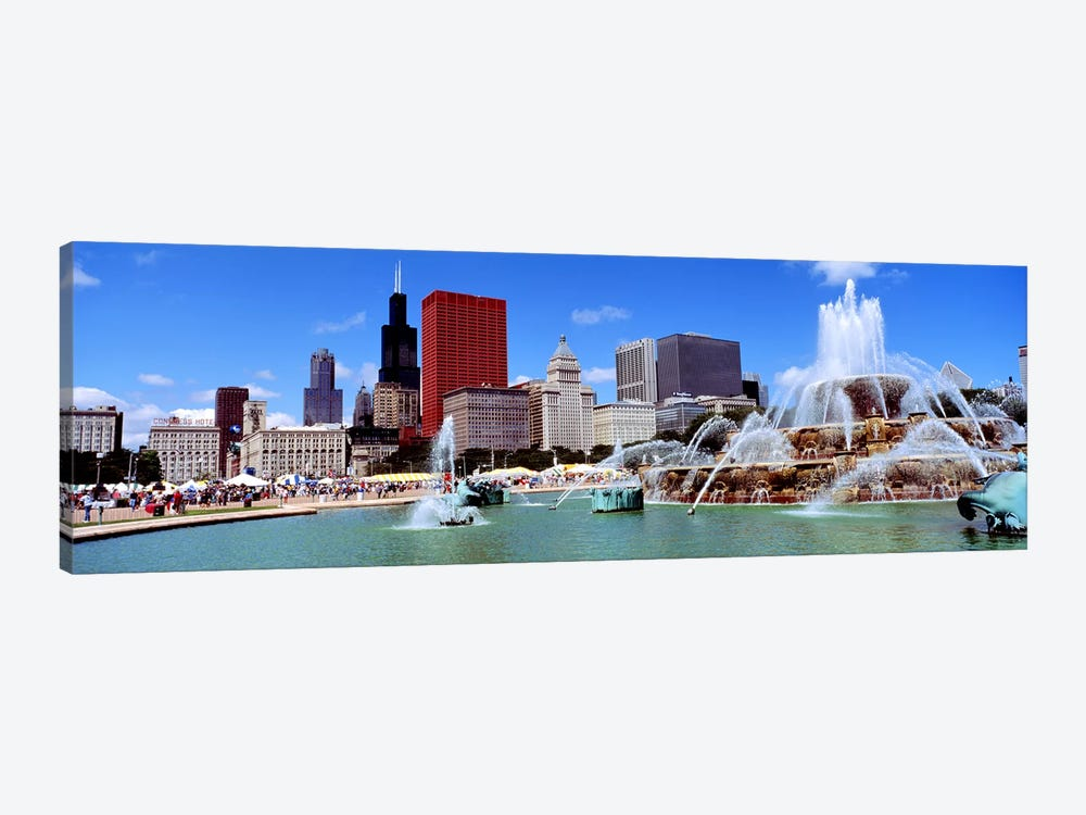 SummerChicago, Illinois, USA by Panoramic Images 1-piece Canvas Artwork