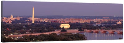 USAWashington DC, aerial, night Canvas Art Print