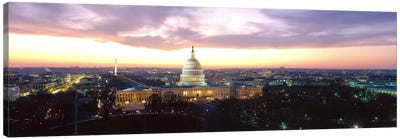 TwilightCapitol Building, Washington DC, District of Columbia, USA Canvas Art Print