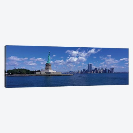 New York, Statue of Liberty, USA Canvas Print #PIM3360} by Panoramic Images Canvas Art Print