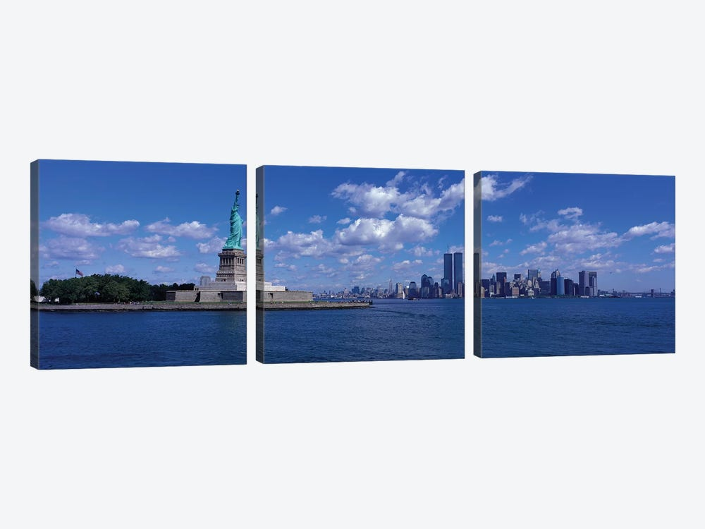 New York, Statue of Liberty, USA 3-piece Canvas Artwork