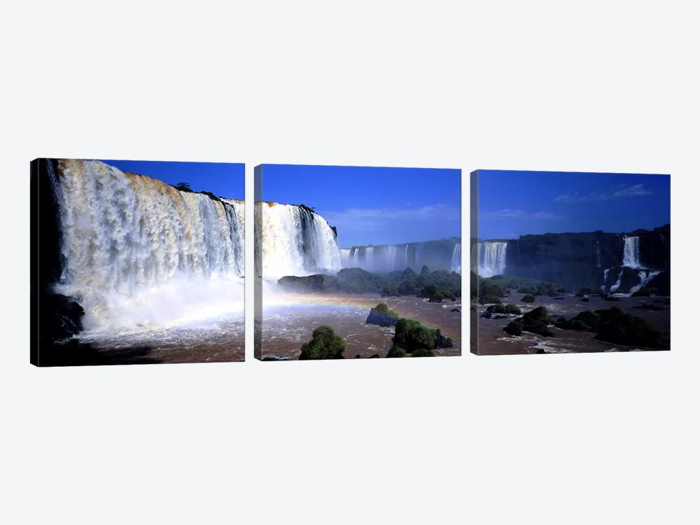 Iguazu Falls, Argentina by Panoramic Images 3-piece Canvas Wall Art