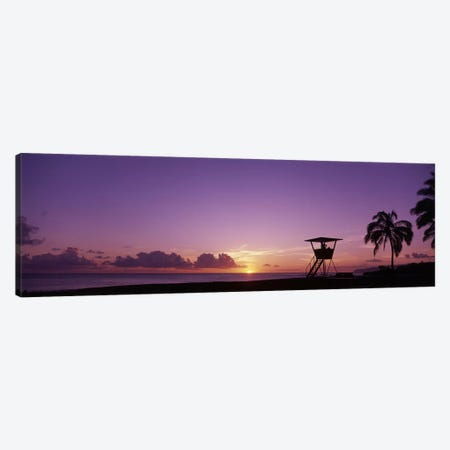 Waimea Bay Oahu HI USA Canvas Print #PIM3364} by Panoramic Images Canvas Wall Art