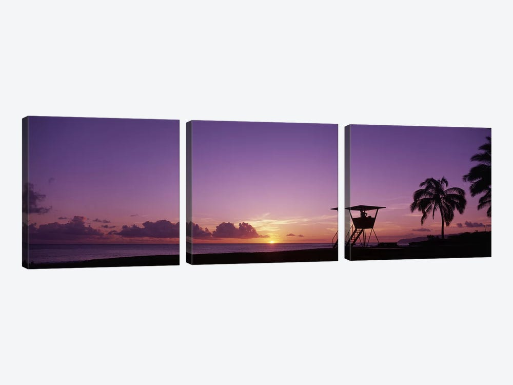 Waimea Bay Oahu HI USA by Panoramic Images 3-piece Canvas Artwork