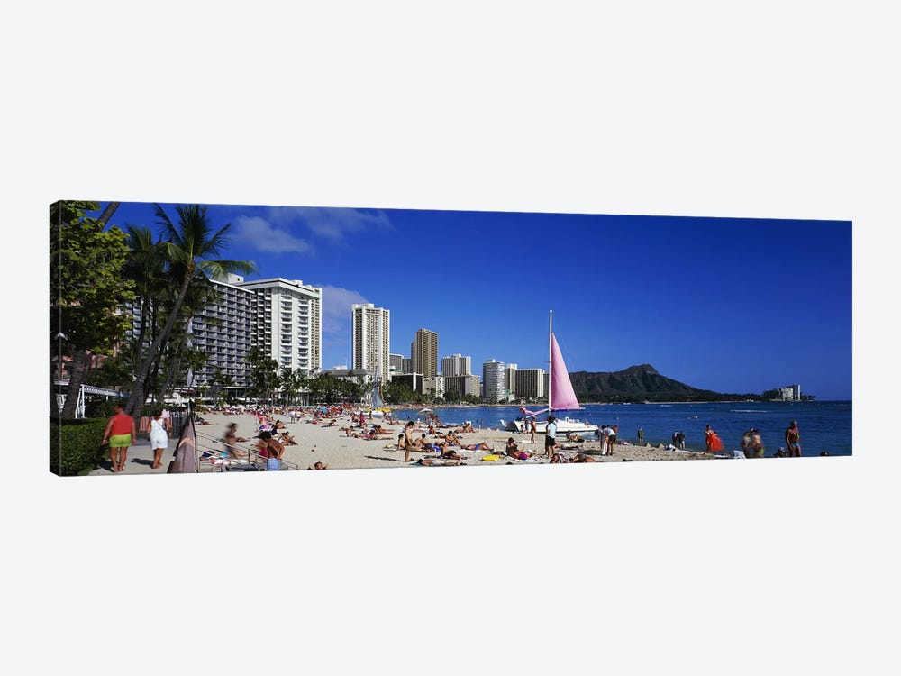 Waikiki Beach Oahu Island HI USA by Panoramic Images 1-piece Canvas Art Print