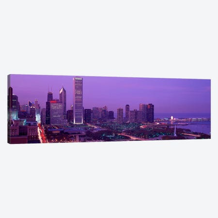 Evening Chicago IL USA Canvas Print #PIM336} by Panoramic Images Canvas Print