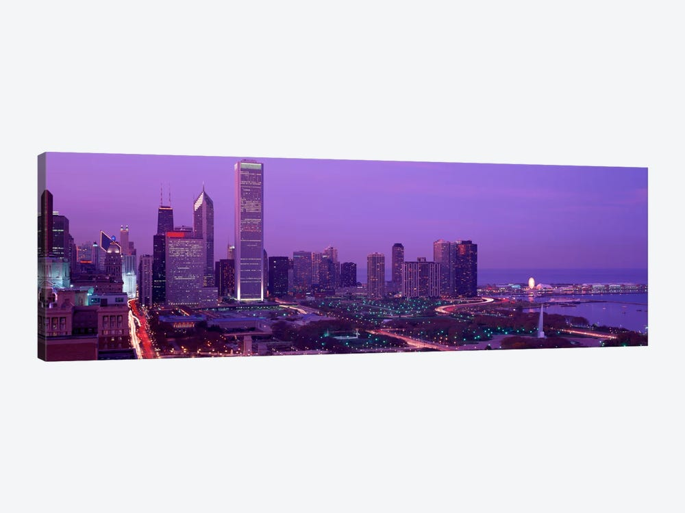 Evening Chicago IL USA by Panoramic Images 1-piece Canvas Art Print
