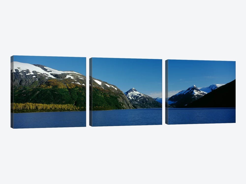 Mountains at the seaside, Chugach National Forest, near Anchorage, Alaska, USA by Panoramic Images 3-piece Canvas Art Print