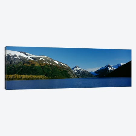 Mountains at the seaside, Chugach National Forest, near Anchorage, Alaska, USA Canvas Print #PIM3378} by Panoramic Images Canvas Artwork