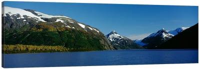 Mountains at the seaside, Chugach National Forest, near Anchorage, Alaska, USA Canvas Art Print
