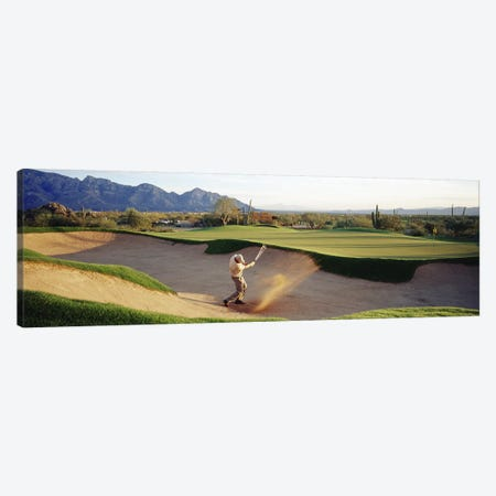 Side profile of a man playing golf at a golf course, Tucson, Arizona, USA Canvas Print #PIM3385} by Panoramic Images Canvas Art