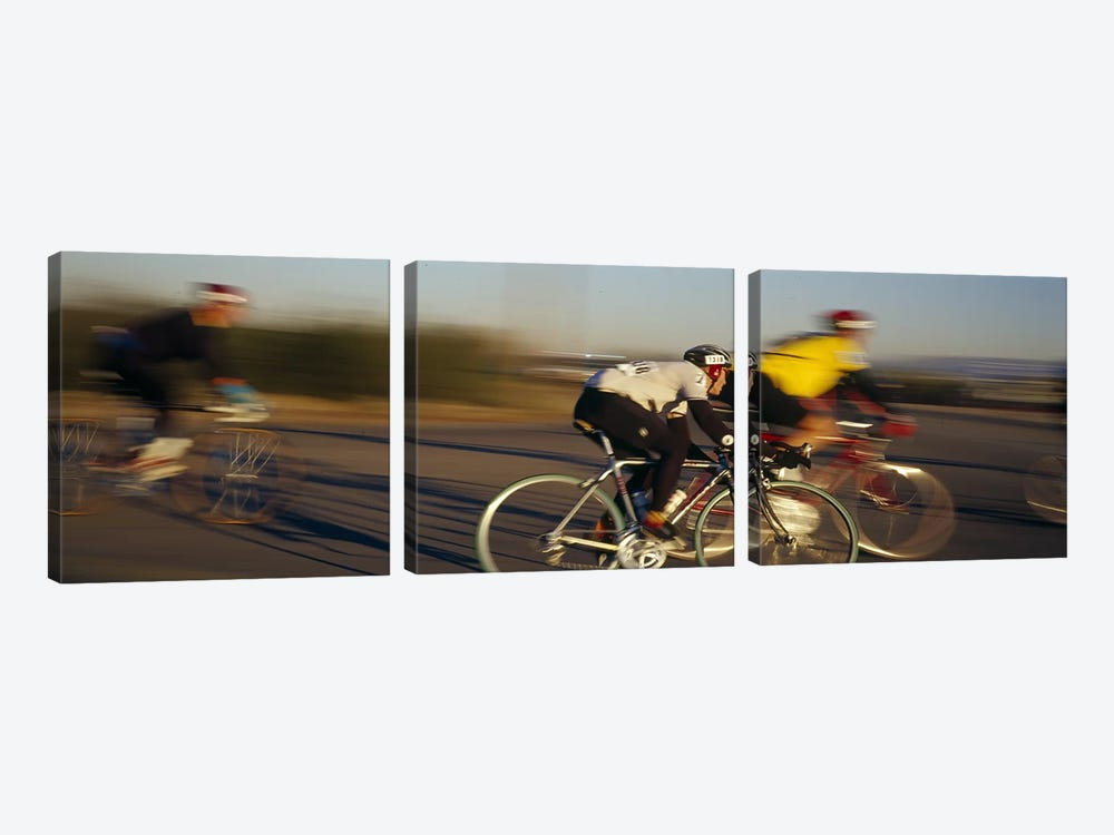 Bicycle race, Tucson, Pima County, Arizona, USA by Panoramic Images 3-piece Canvas Wall Art