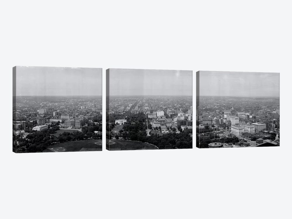 North view Washington DC by Panoramic Images 3-piece Canvas Art Print