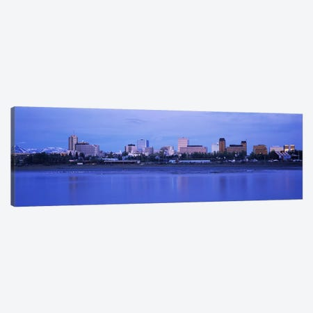 Buildings at the waterfront, Anchorage, Alaska, USA Canvas Print #PIM3390} by Panoramic Images Canvas Art