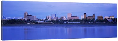 Buildings at the waterfront, Anchorage, Alaska, USA Canvas Art Print