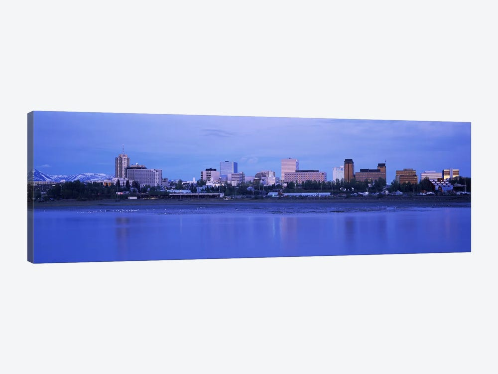 Buildings at the waterfront, Anchorage, Alaska, USA by Panoramic Images 1-piece Canvas Print