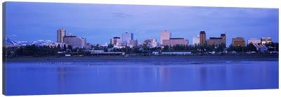 Buildings at the waterfront, Anchorage, Alaska, USA Canvas Art Print