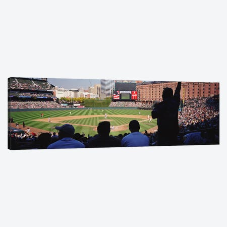 Camden Yards Baseball Game Baltimore Maryland USA Canvas Print #PIM3391} by Panoramic Images Canvas Artwork