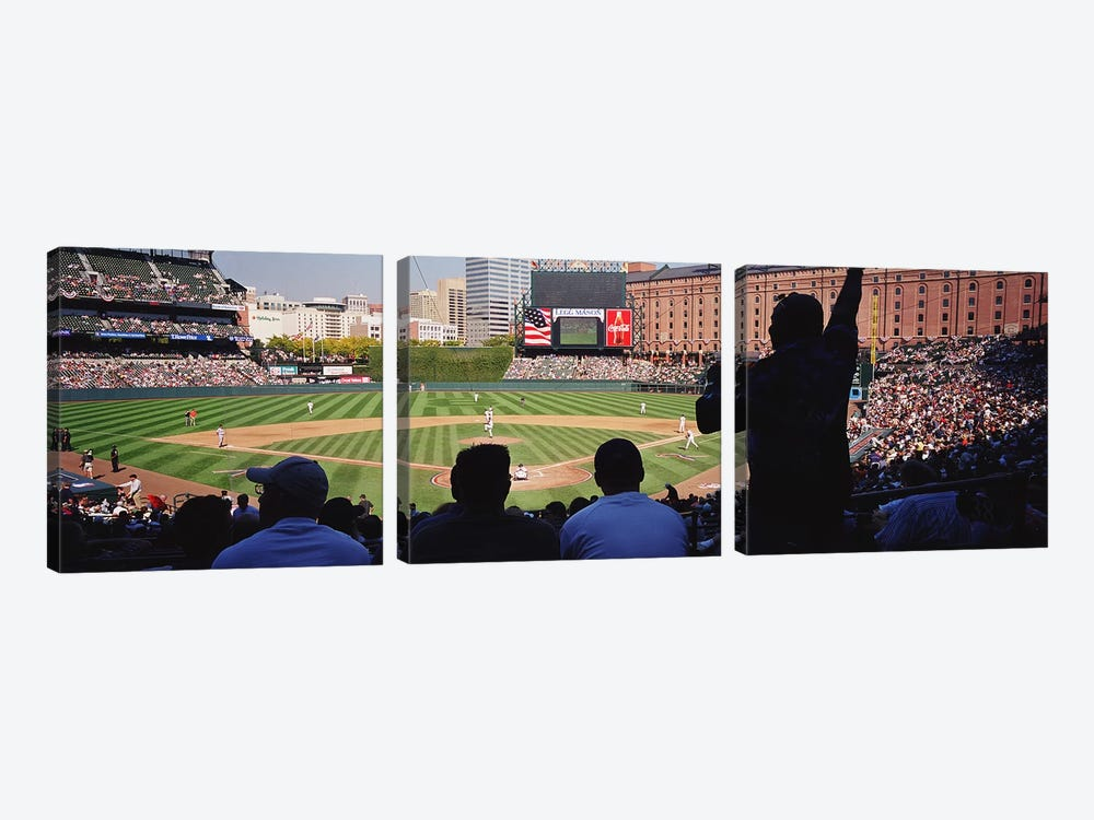 Camden Yards Baseball Game Baltimore Maryland USA by Panoramic Images 3-piece Canvas Wall Art