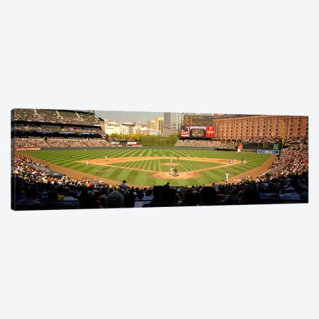 Camden Yards Baseball Game Baltimore Maryland USA #2 Canvas Print #PIM3392} by Panoramic Images Canvas Artwork