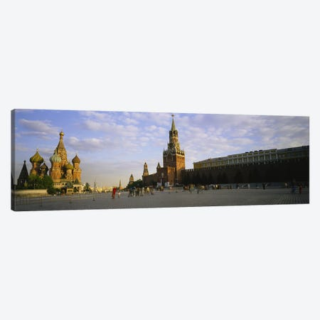 Cathedral at a town square, St. Basil's Cathedral, Red Square, Moscow, Russia Canvas Print #PIM3393} by Panoramic Images Canvas Wall Art