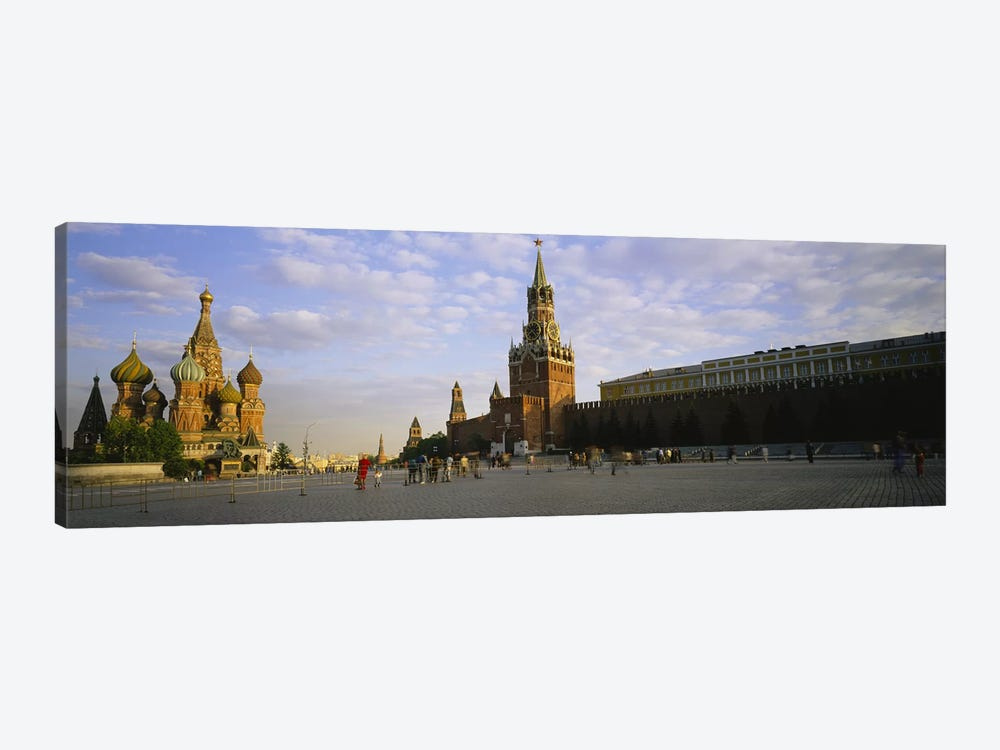 Cathedral at a town square, St. Basil's Cathedral, Red Square, Moscow, Russia by Panoramic Images 1-piece Canvas Artwork