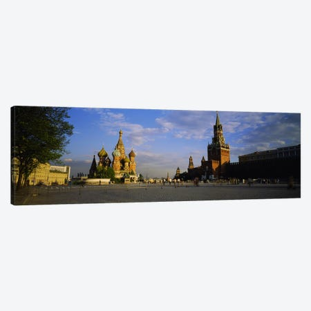 Cathedral at a town square, St. Basil's Cathedral, Red Square, Moscow, Russia #2 Canvas Print #PIM3394} by Panoramic Images Canvas Art Print