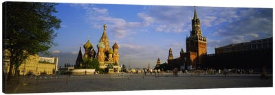 Cathedral at a town square, St. Basil's Cathedral, Red Square, Moscow, Russia #2 Canvas Art Print