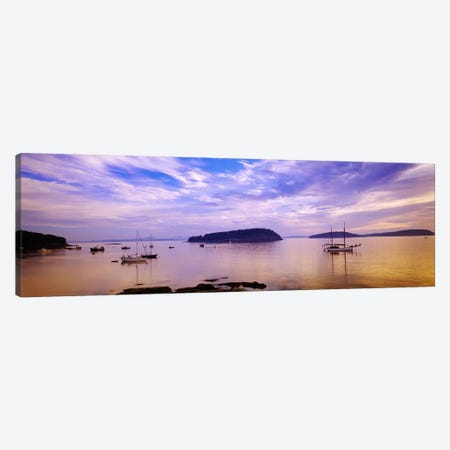 Frenchman Bay At Twilight, Hancock County, Maine, USA Canvas Print #PIM3395} by Panoramic Images Canvas Art Print