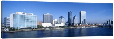 Buildings at the waterfront, St. John's River, Jacksonville, Florida, USA Canvas Art Print