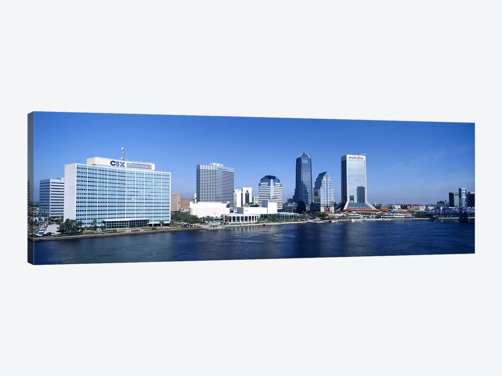 Buildings at the waterfront, St. John's River, Jacksonville, Florida, USA by Panoramic Images 1-piece Canvas Print