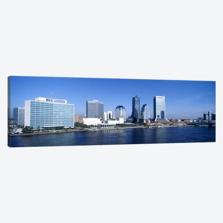Buildings at the waterfront, St. John's River, Jacksonville, Florida, USA Canvas Print #PIM3396} by Panoramic Images Art Print