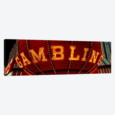 Close-up of a neon sign of gambling, Las Vegas, Clark County, Nevada, USA Canvas Print #PIM3404} by Panoramic Images Canvas Art Print