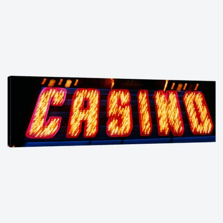 Casino Sign Las Vegas NV Canvas Print #PIM3405} by Panoramic Images Canvas Art Print