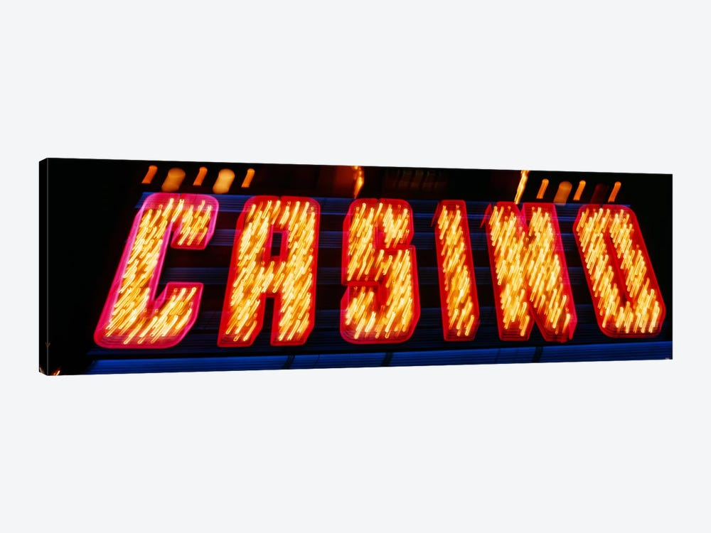 Casino Sign Las Vegas NV by Panoramic Images 1-piece Canvas Artwork