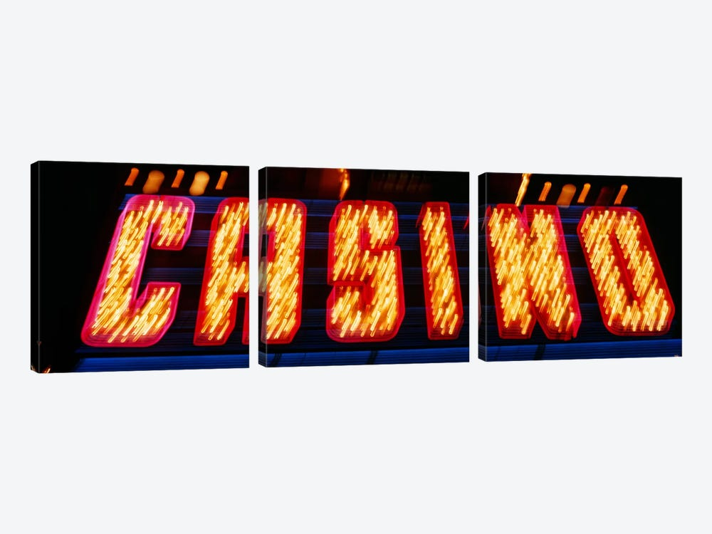 Casino Sign Las Vegas NV by Panoramic Images 3-piece Canvas Artwork