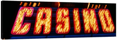 Casino Sign Las Vegas NV Canvas Art Print