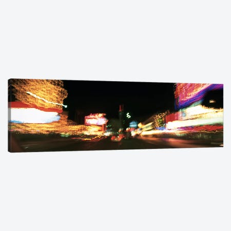 The Strip At Night, Las Vegas, Nevada, USA Canvas Print #PIM3407} by Panoramic Images Art Print