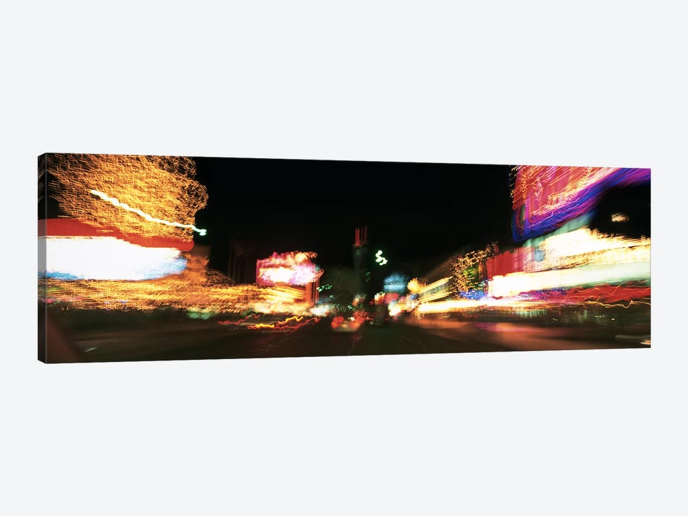 The Strip At Night, Las Vegas, Nevada, USA by Panoramic Images 1-piece Canvas Artwork