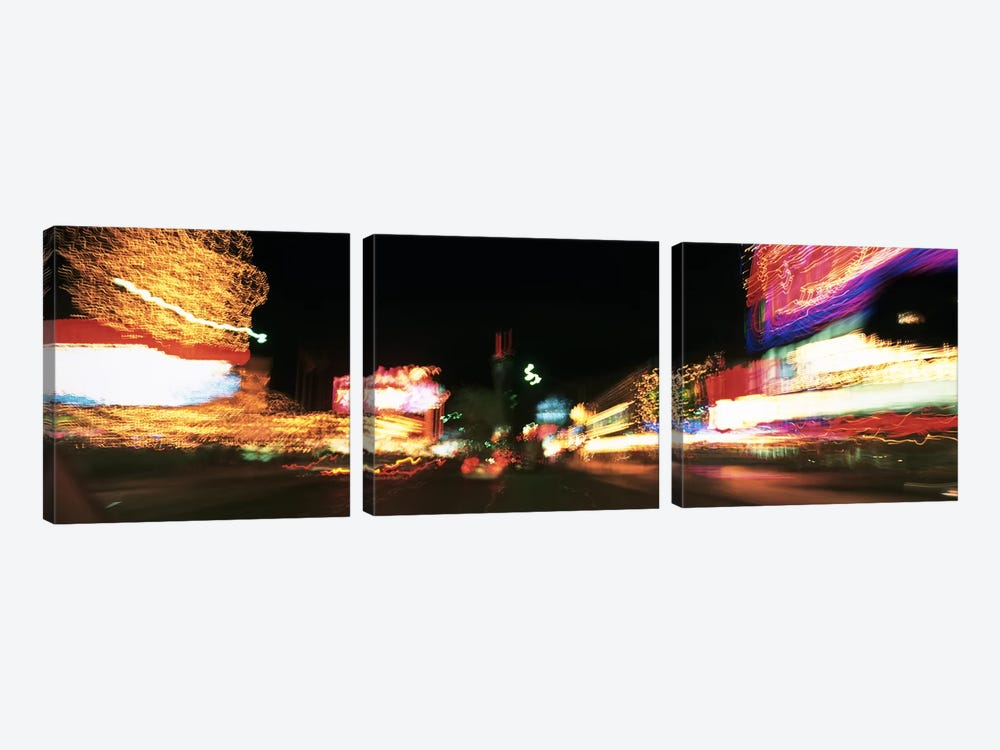 The Strip At Night, Las Vegas, Nevada, USA by Panoramic Images 3-piece Canvas Wall Art
