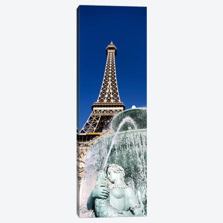 Fountain Eiffel Tower Las Vegas NV Canvas Print #PIM3409} by Panoramic Images Canvas Wall Art