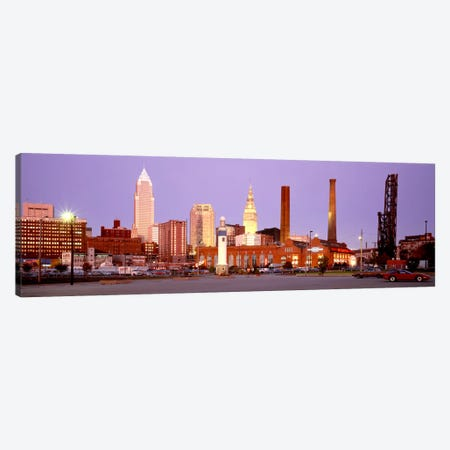 Skyline, Cleveland, Ohio, USA Canvas Print #PIM340} by Panoramic Images Canvas Art Print
